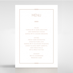 Quilted Grace wedding venue menu card stationery design