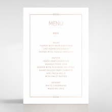 Quilted Grace wedding table menu card