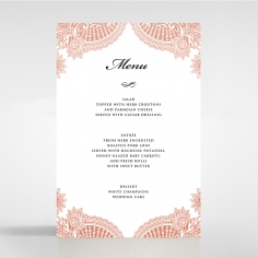 Regal Charm Letterpress wedding reception menu card stationery