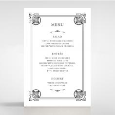 Regal Frame wedding reception table menu card stationery