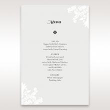 Regal Romance menu card stationery