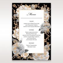 Rose Gold Flowers wedding reception menu card design