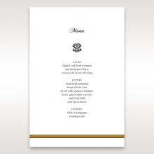 Royal Elegance wedding stationery table menu card