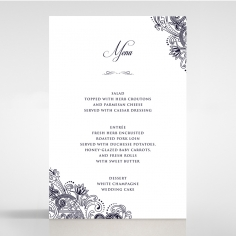 Royal Embrace menu card stationery design