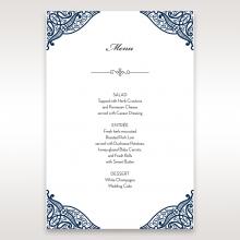 Royal Frame reception menu card stationery item