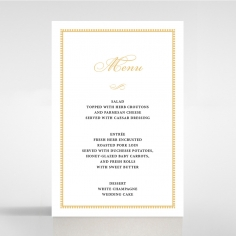 Royal Lace wedding venue table menu card stationery design