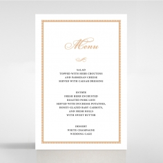 Royal Lace menu card