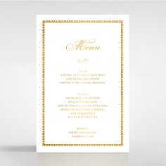 Royal Lace with Foil wedding venue table menu card stationery