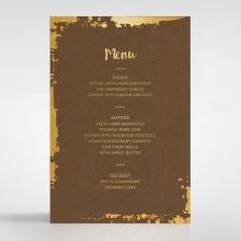 Rusted Charm wedding reception table menu card