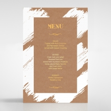 Rustic Brush Stroke  with Foil table menu card stationery