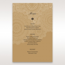 Rustic Charm wedding stationery table menu card design