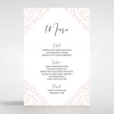 Rustic Elegance wedding venue table menu card