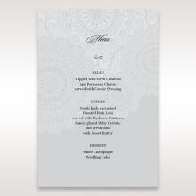 Rustic Lace Pocket wedding venue table menu card stationery design