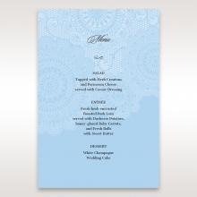 Rustic Lace Pocket wedding venue table menu card stationery
