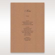 Rustic Laser Cut Pocket with Classic Bow wedding menu card design