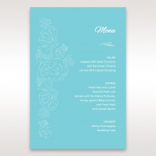 Seaside splendour reception menu card stationery