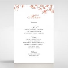 Secret Garden wedding stationery table menu card design