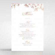 Secret Garden table menu card design