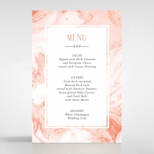 Serenity Marble wedding venue menu card stationery design
