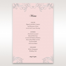 Silvery Charisma table menu card stationery