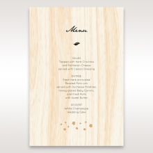Splendid Laser Cut Scenery wedding reception menu card stationery
