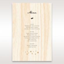 Splendid Laser Cut Scenery wedding reception menu card stationery