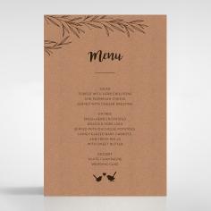 Springtime Love wedding menu card stationery