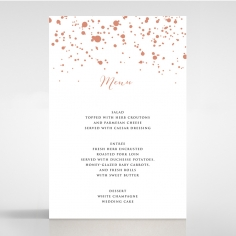 Star Dust wedding reception menu card