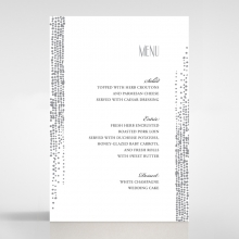 Star Shower wedding venue menu card stationery design