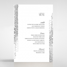 Star Shower wedding venue menu card stationery item
