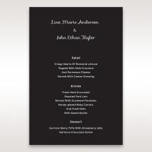 Striking Laser Cut Peacock Digital reception menu card design