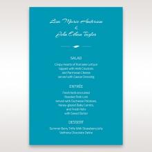 Stylish Laser cut Peacock Feather Digital wedding reception menu card design
