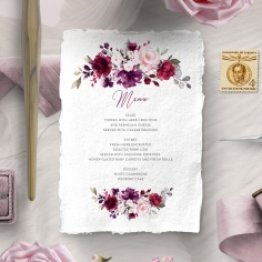 Their Fairy Tale menu card stationery item