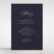 Timeless Romance wedding reception menu card stationery