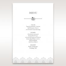Traditional Romance wedding reception menu card stationery design