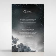 Under the Stars wedding reception menu card stationery