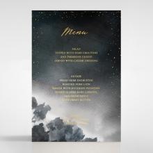 Under the Stars wedding reception menu card stationery design