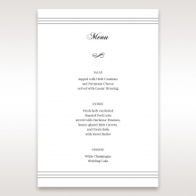 Unique Grey Pocket with Regal Stamp reception menu card