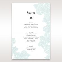 Vibrant Flowers menu card stationery item