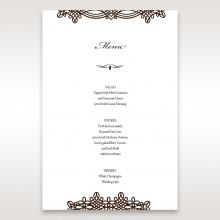 Victorian Charm wedding table menu card stationery item