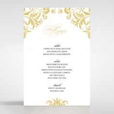 Victorian Extravagance wedding venue table menu card design