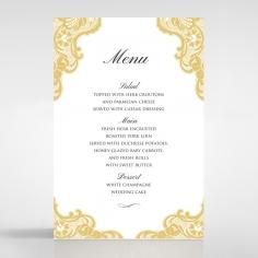 Victorian Lace reception menu card stationery design