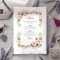 Vines of Love reception menu card stationery item