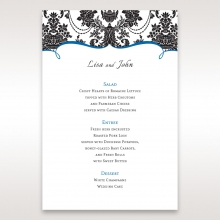 Vintage Glamour reception table menu card stationery item