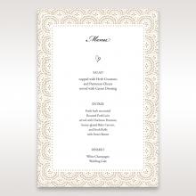 Vintage Lace Frame reception menu card design