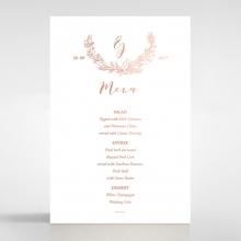 Whimsical Garland reception menu card