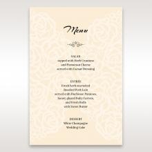 Wild Laser cut Flowers reception menu card stationery item