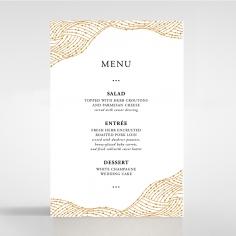 Woven Love Letterpress wedding reception menu card stationery design