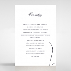 A Polished Affair order of service ceremony stationery card design