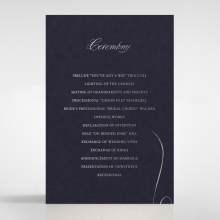 A Polished Affair order of service stationery invite